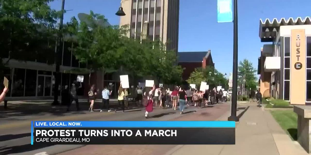 Cape Girardeau BLM protest turns into march, police block roads
