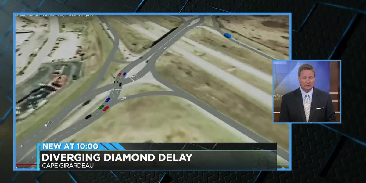 Diverging diamond delay