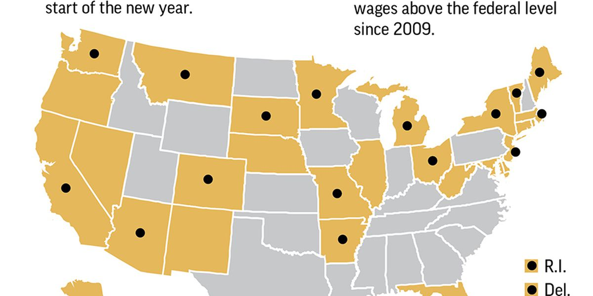 Minimum wage rising in 20 states and numerous cities, including Seattle