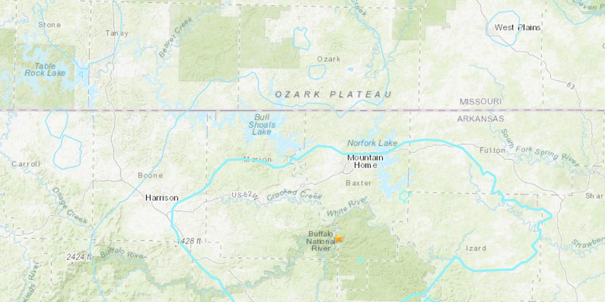3.7-magnitude earthquake shakes near Missouri-Arkansas border