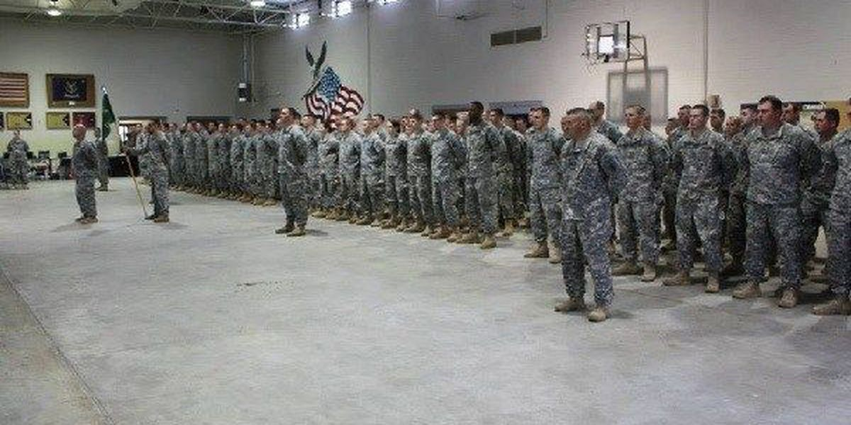 Soldiers gather in Kennett, MO before going to Guantanamo Bay Naval Base
