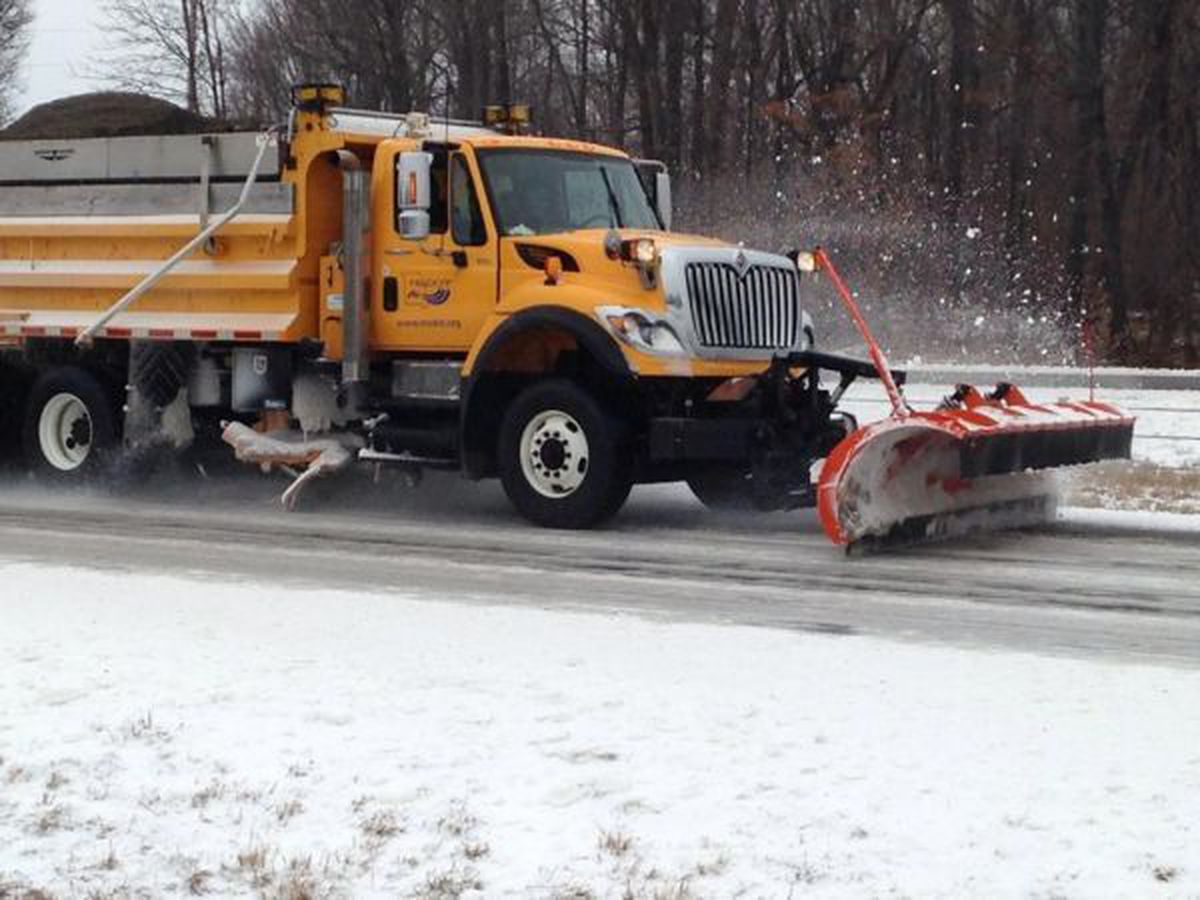 Road crews advise drivers to stay off the roads due to bitter cold temps, snow this weekend