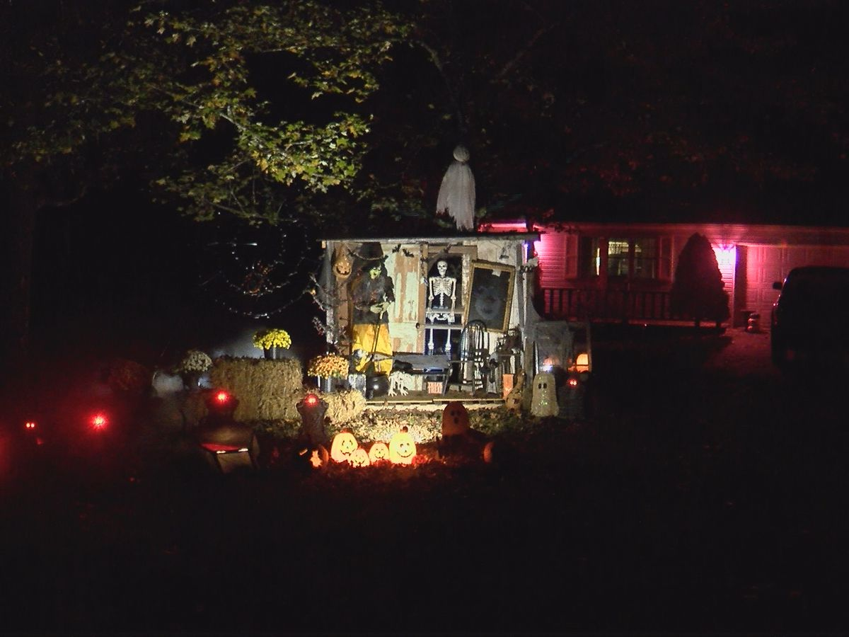 Halloween display has special meaning for Heartland family