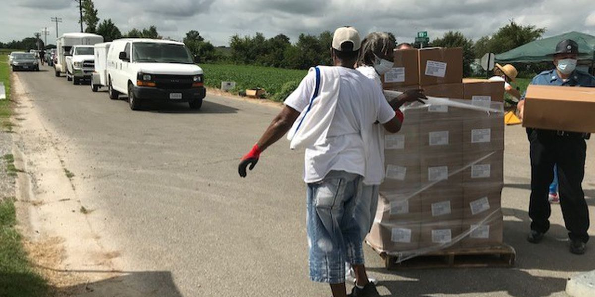More than 100,000 pounds of food distributed to 5-state area