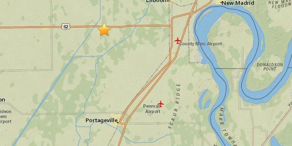 M2.2 earthquake recorded near Lilbourn, MO