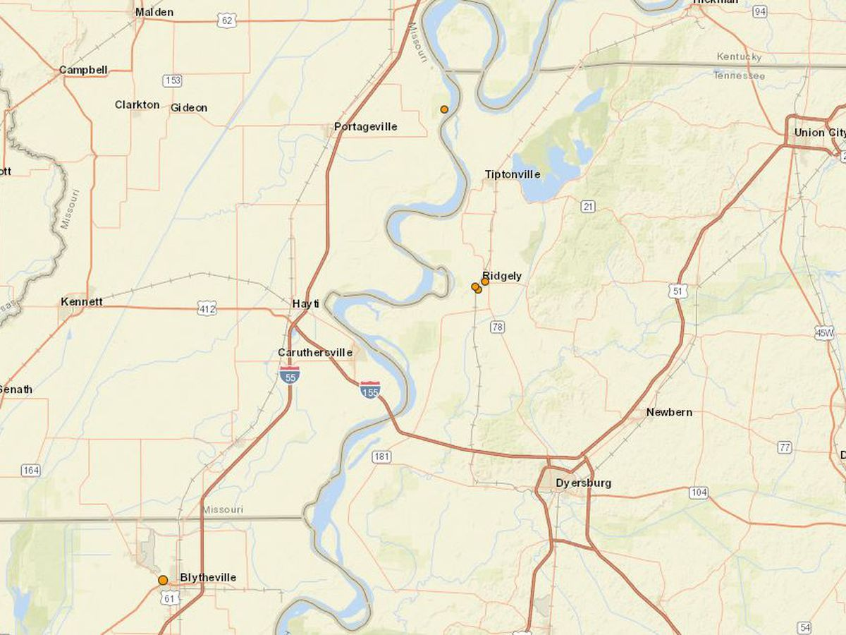 Multiple small quakes rattle near the Bootheel