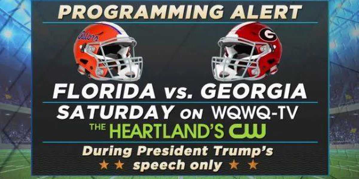 Programming Alert: FL Gators vs. GA Bulldogs showing on WQWQ