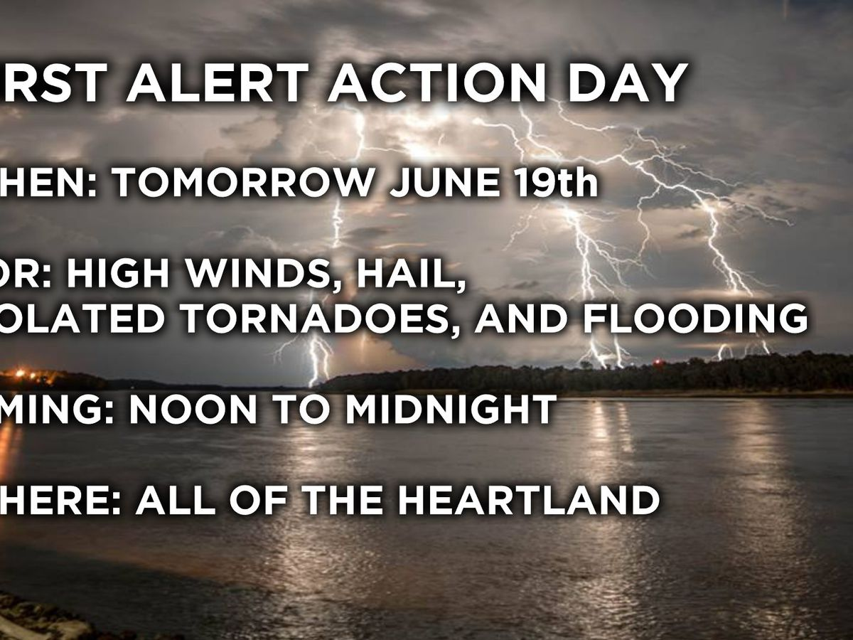 First Alert: Severe storms, flooding hit the Heartland on Wednesday