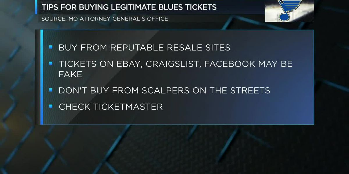 Blues tickets scam warning issued by AG's office