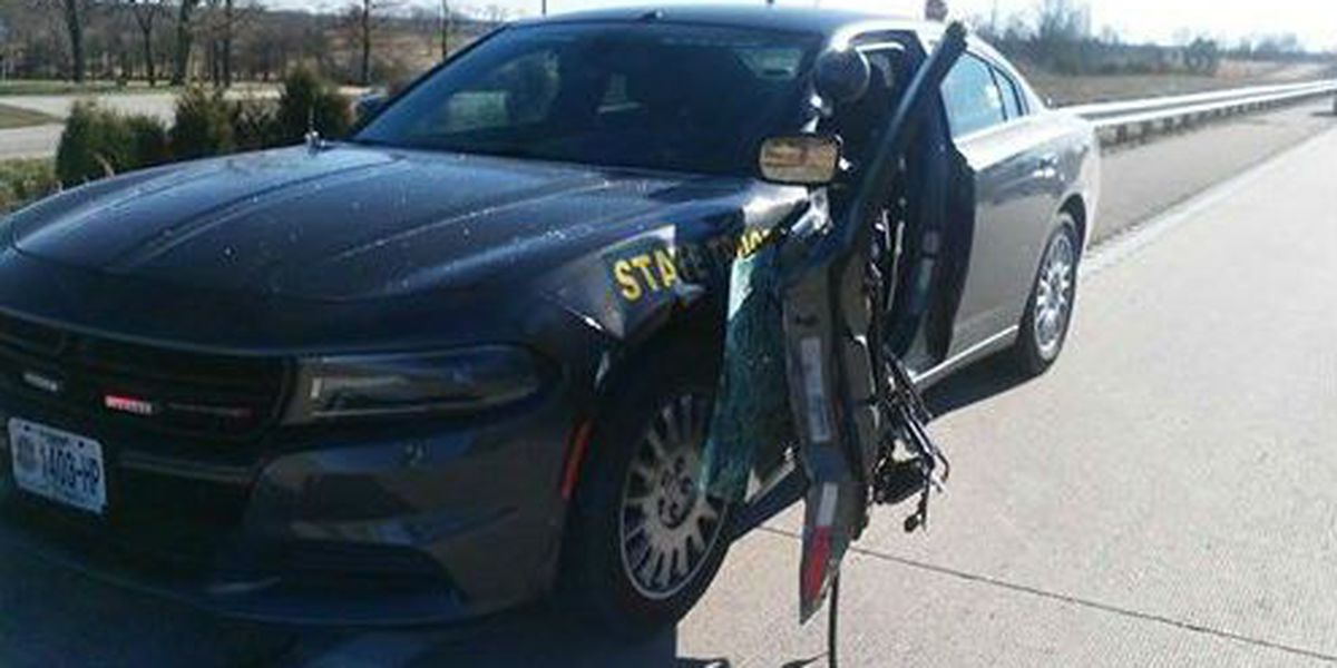 MO Highway Patrol cruiser hit, troopers caution to 'Move Over'