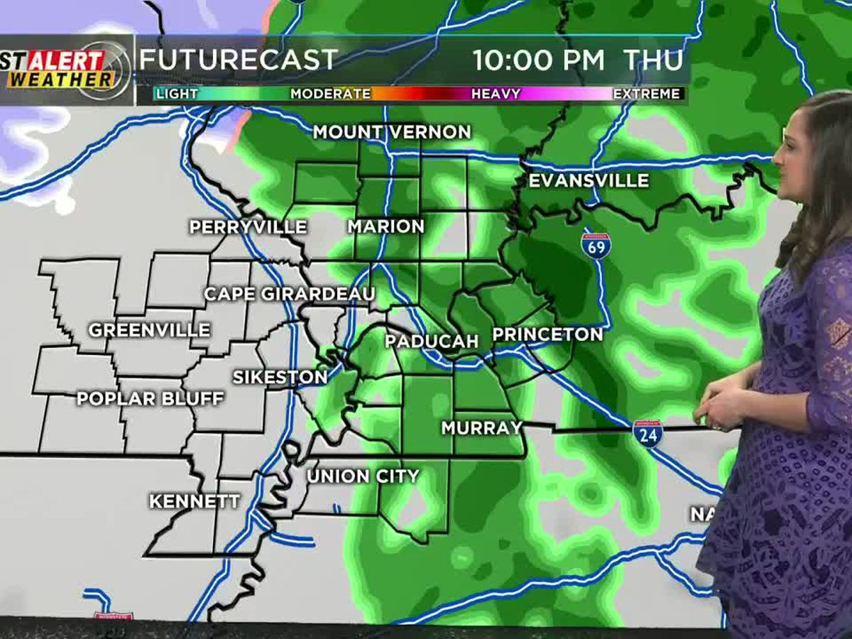 First Alert: Cold rain for much of the Heartland this afternoon, evening