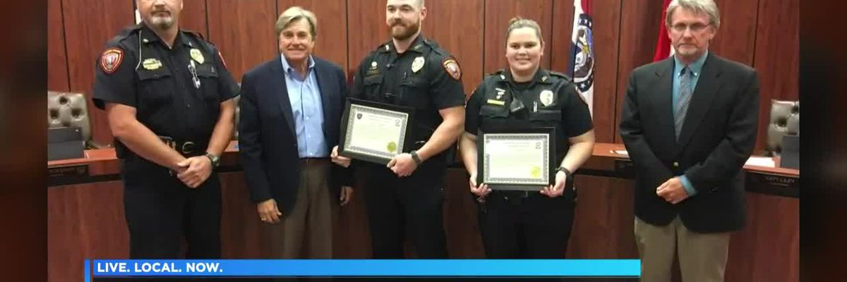 Jackson officers honored for swift water rescue