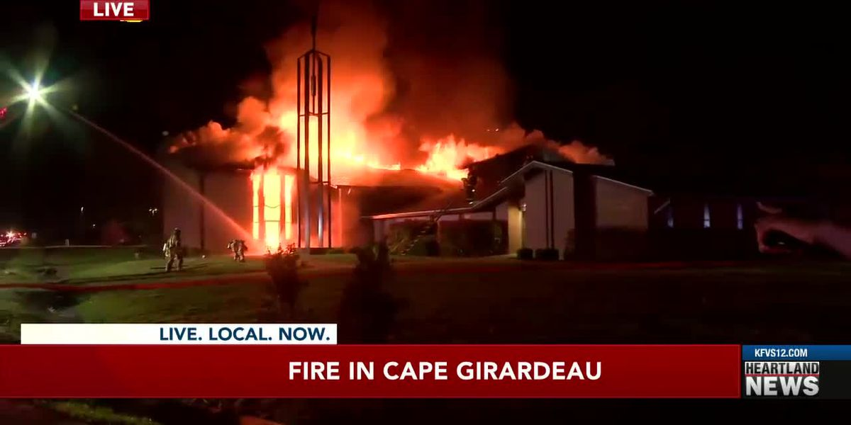 Crews battle fire at Church of Jesus Christ of Latter-day Saints in Cape Girardeau