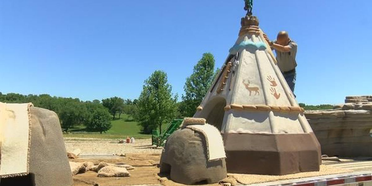 Climbing rocks delivered for new Cape Girardeau playground