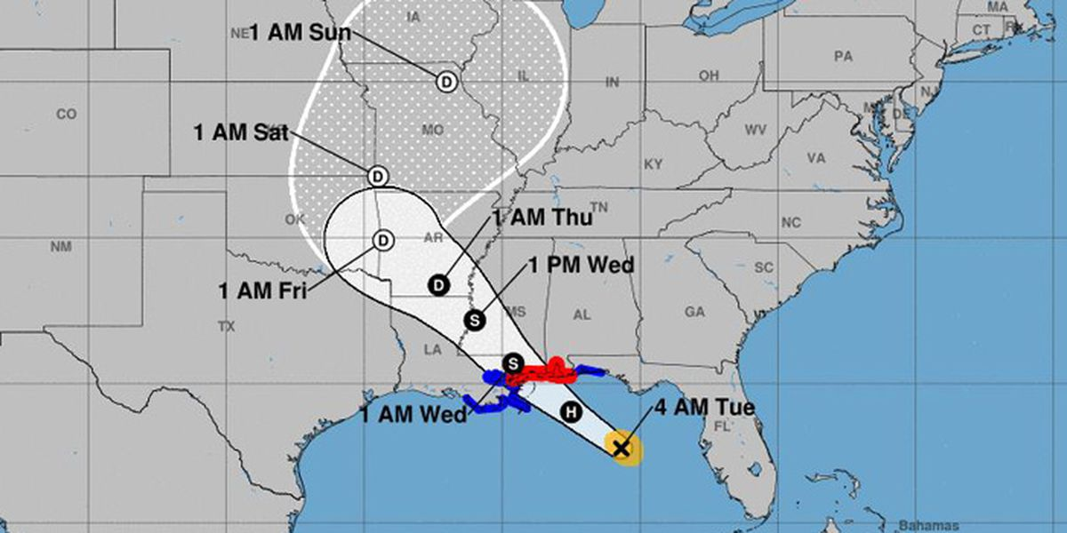Tropical Storm Gordon heads for Gulf Coast