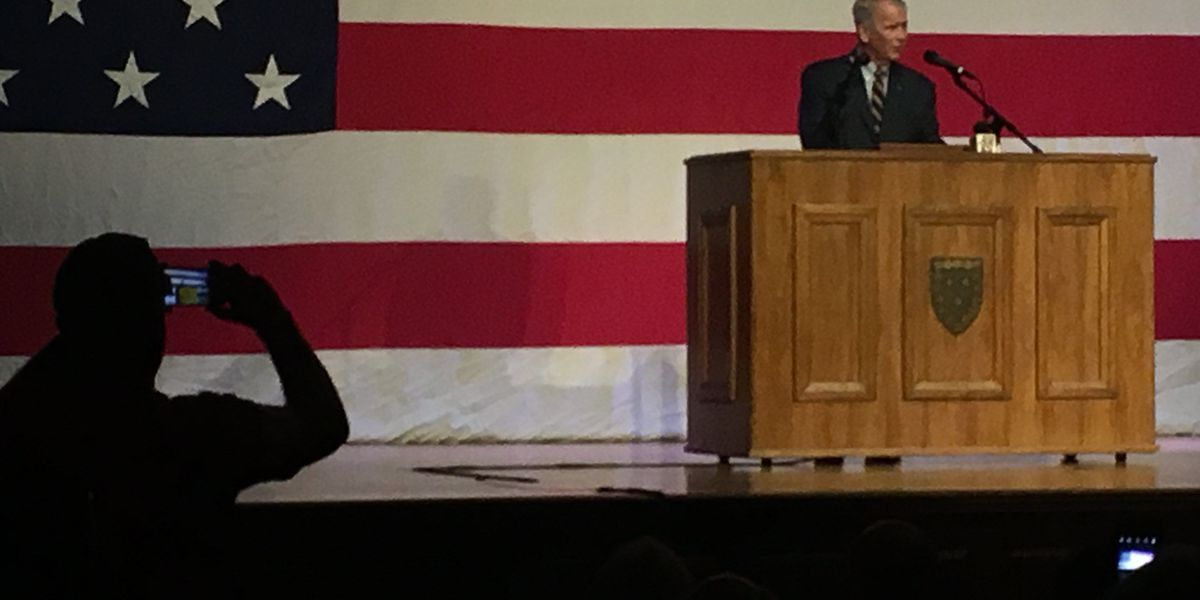 NRA president Oliver North speaks at Murray State University