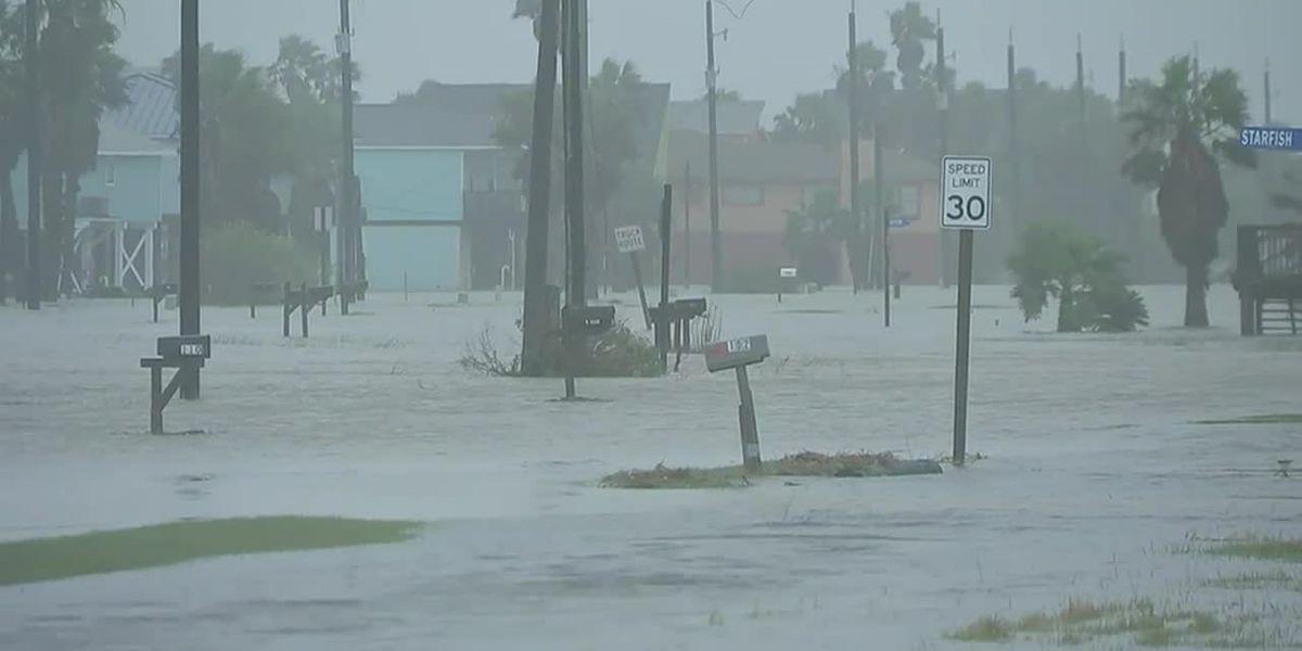Beta makes landfall on Texas coast as total rainfall remains an unknown