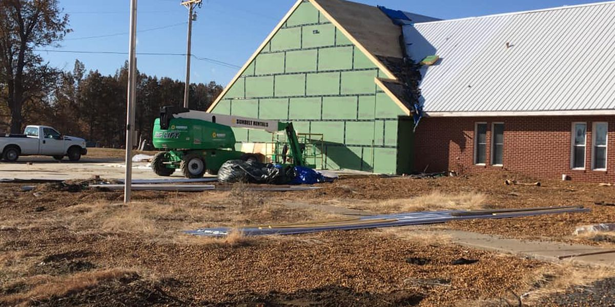 Church rebuilding efforts in full swing after tornado struck 8 months ago