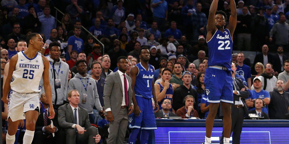 Seton Hall overcomes half-court shot to stun No. 9 Kentucky