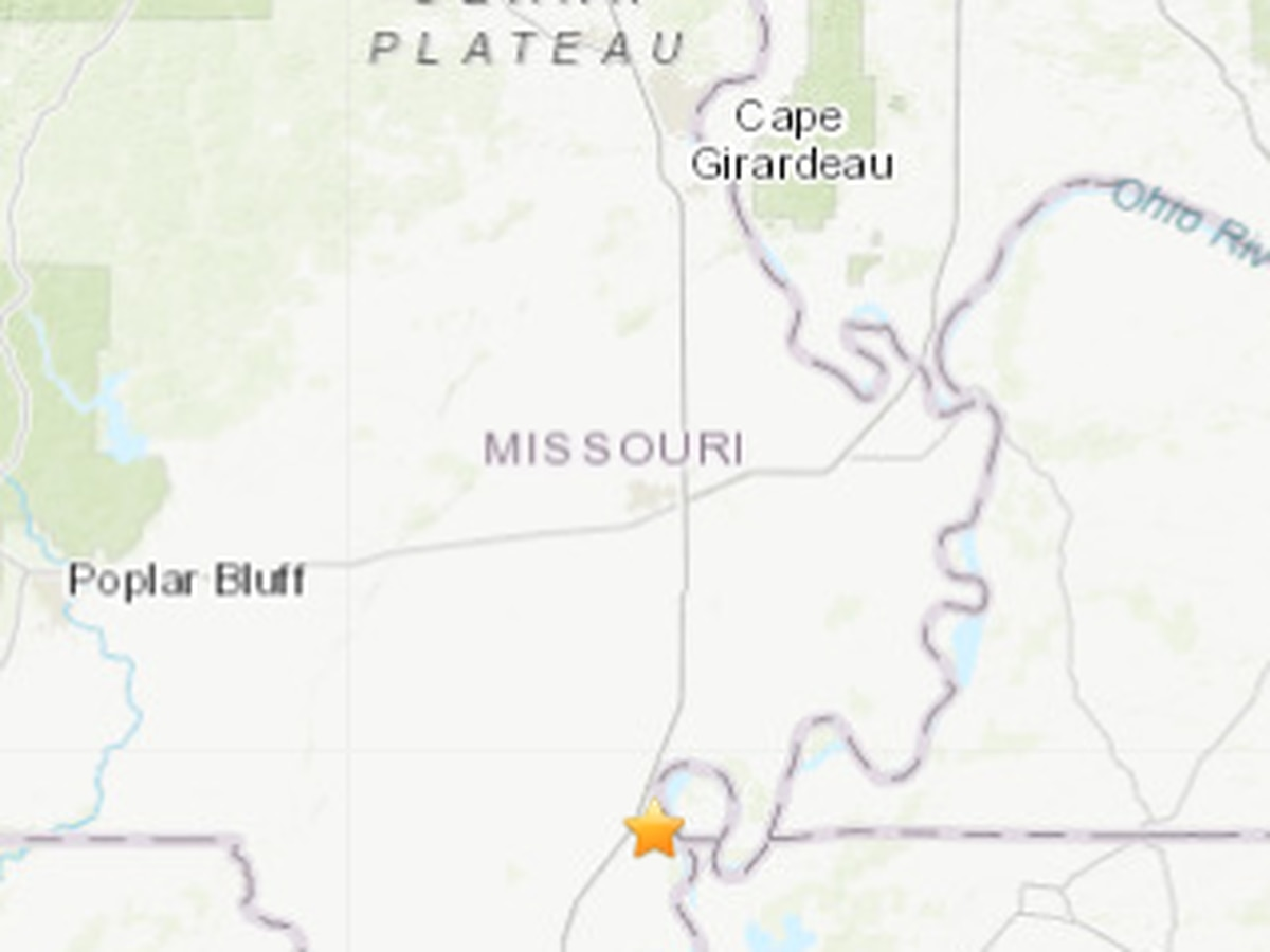 2.4M earthquake in southeast Missouri