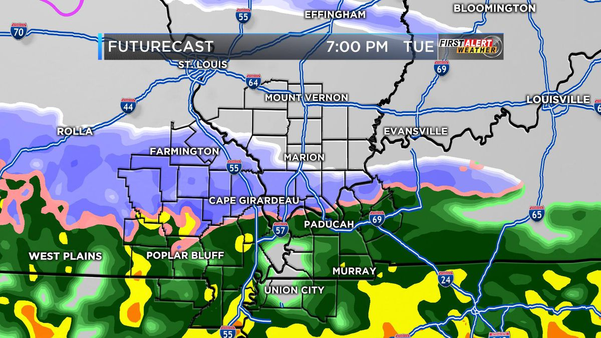 First Alert: Cool, cloudy today; snow and rain tomorrow