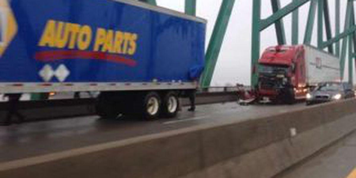Multi tractor-trailer crash injures 2 near Cairo