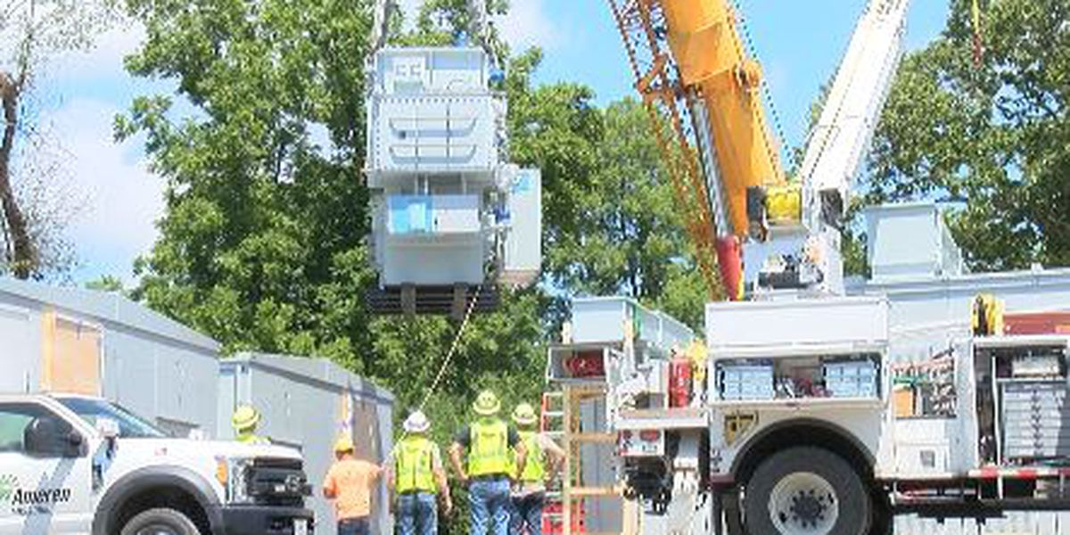 New Ameren Mo. transformers installed at Cape Girardeau substation