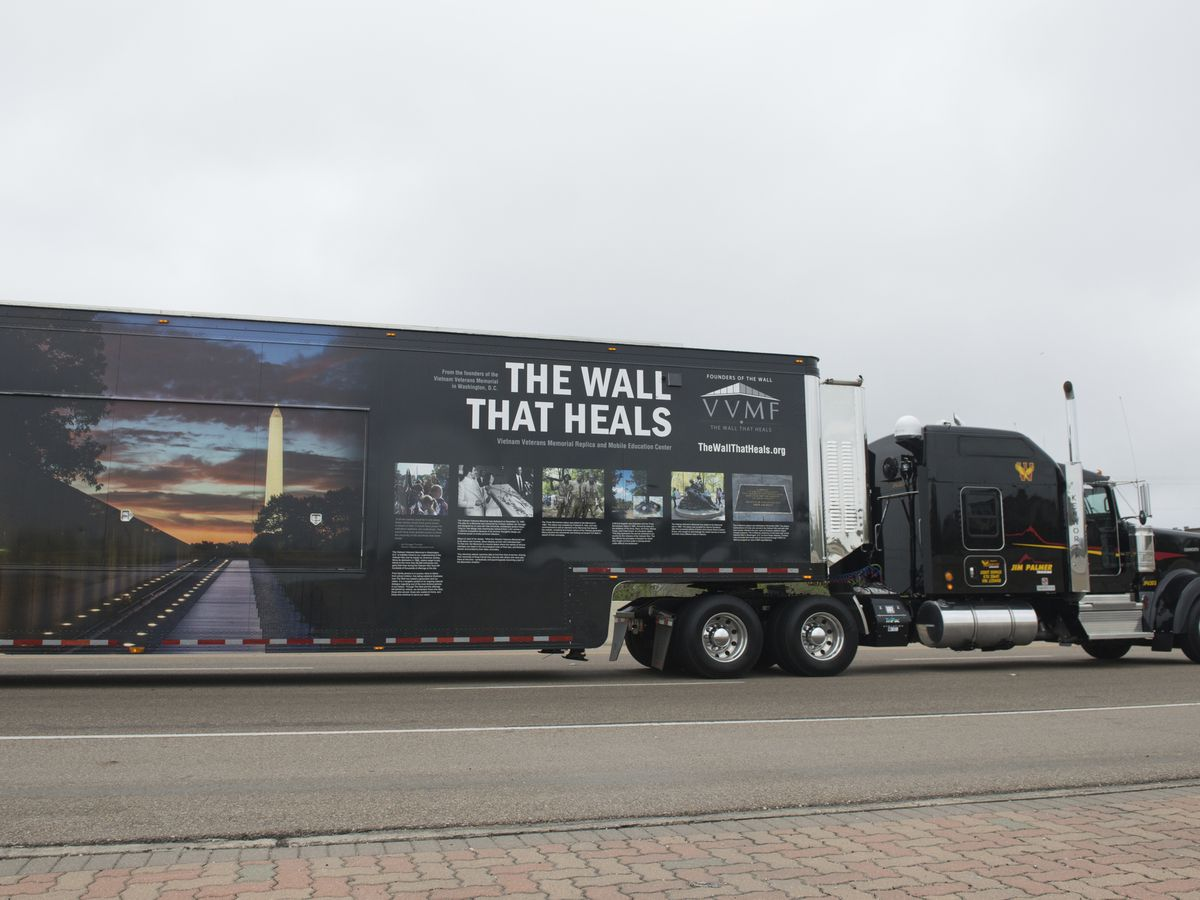 Wall That Heals escort to Paducah, KY on Oct. 23
