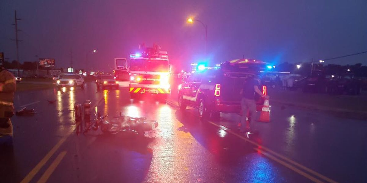 Cape Girardeau Fire Department respond to motorcycle crash on South Kingshighway