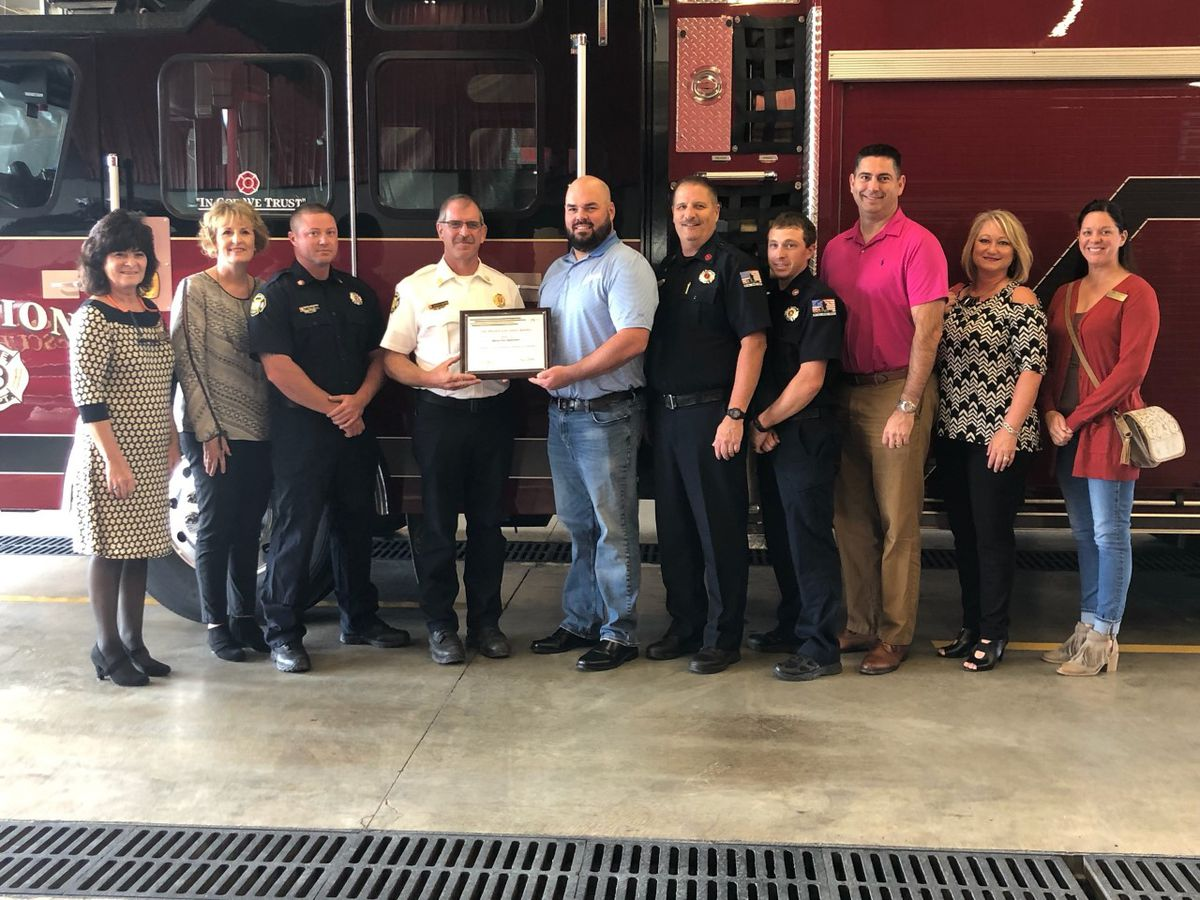 Marion Fire Department earns award from FM Global