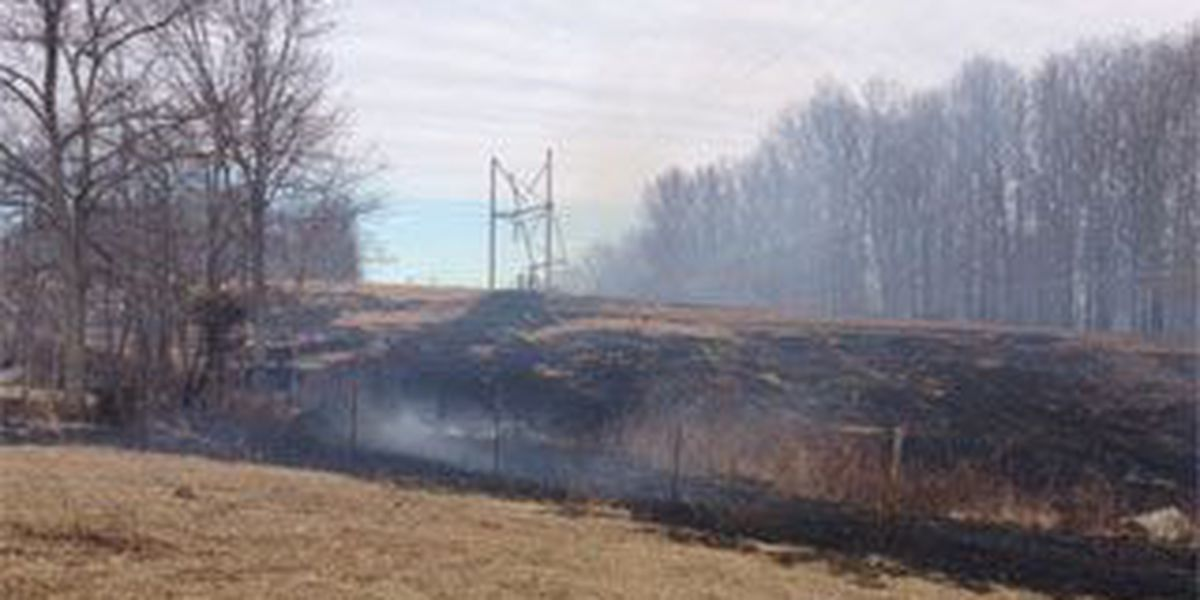 Snapped power lines cause brush fire near Marble Hill