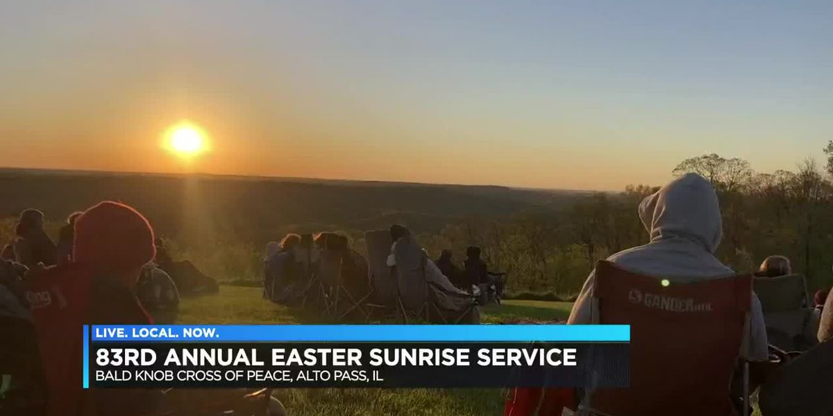 Bald Knob cross sunrise service