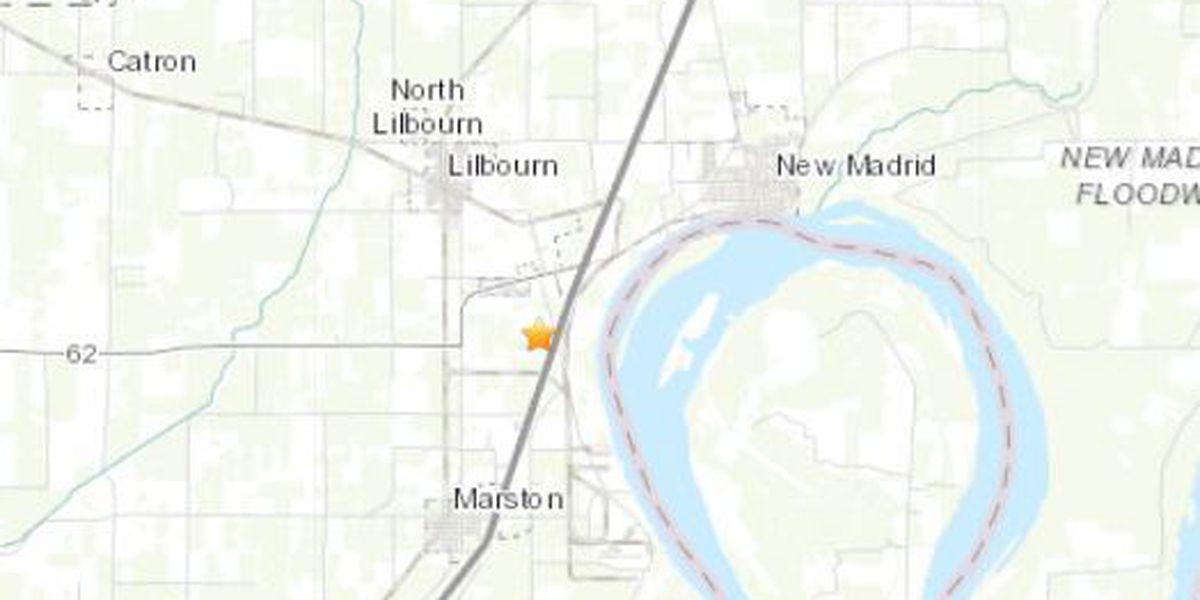 2.0 magnitude earthquake reported near Lilbourn, Mo.