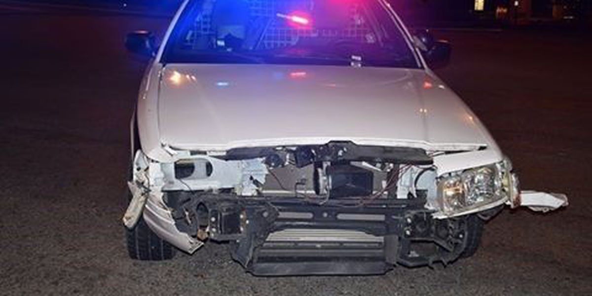 Cape Girardeau squad car hit during emergency response