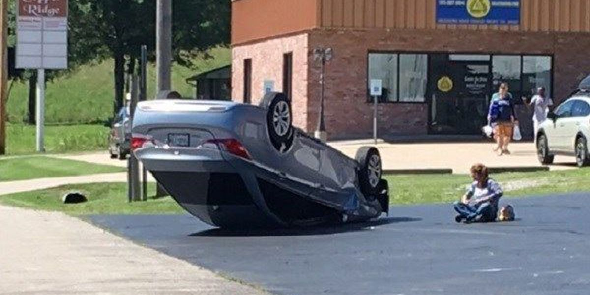 Driver uninjured after vehicle flips on Old Cape Road