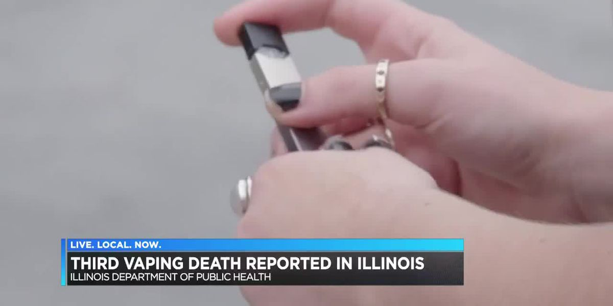 Third vaping-related death reported in Illinois