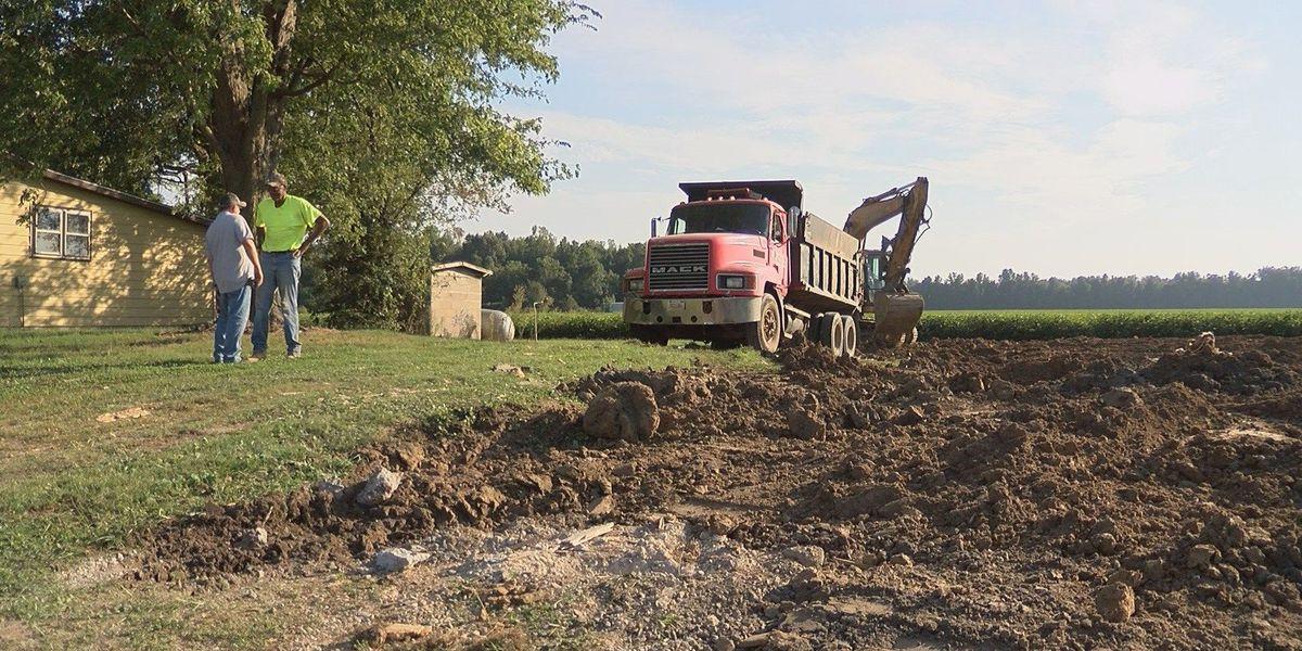 Demolition begins on Alexander Co., IL properties damaged in 2011 flood