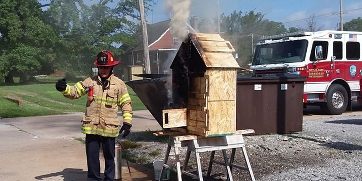 One doll displaced in Cape Girardeau doll house training fire