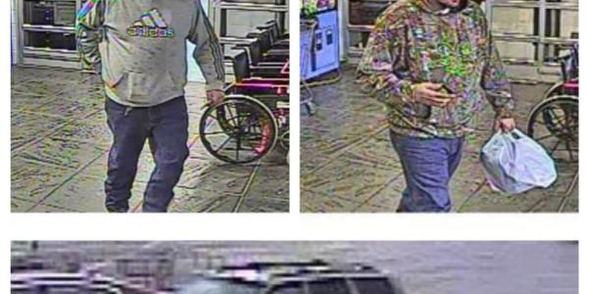 Police identify 2 men in connection to stolen credit card