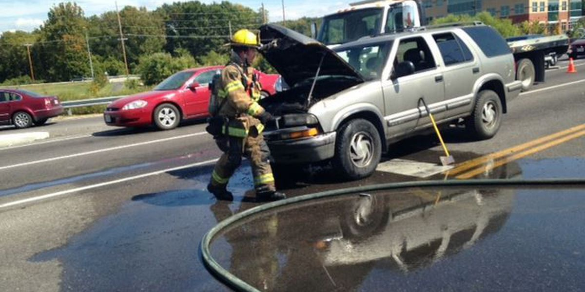 Kingshighway back open after SUV fire in Cape Girardeau