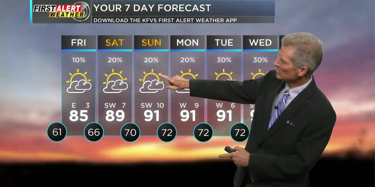 First Alert forecast at noon on 8/6