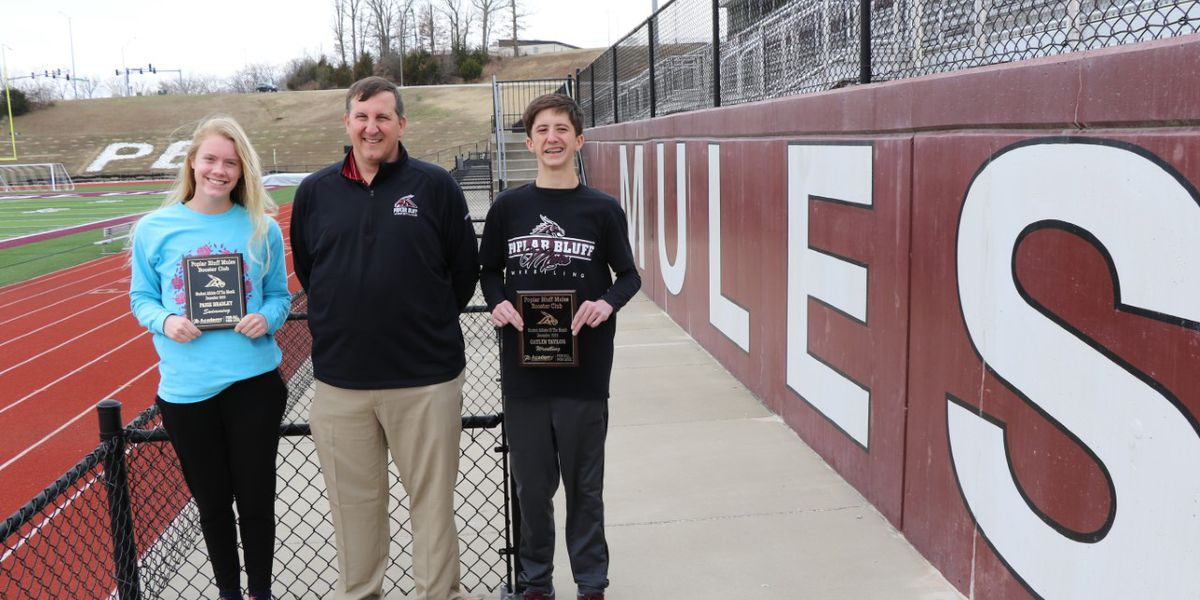 Poplar Bluff High School booster club awards 2 December Athletes of the Month