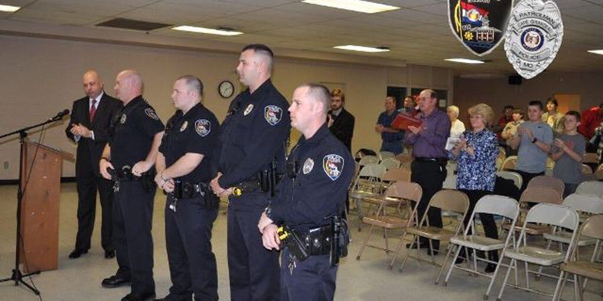 Cape Girardeau police officers honored for saving suspects from fire