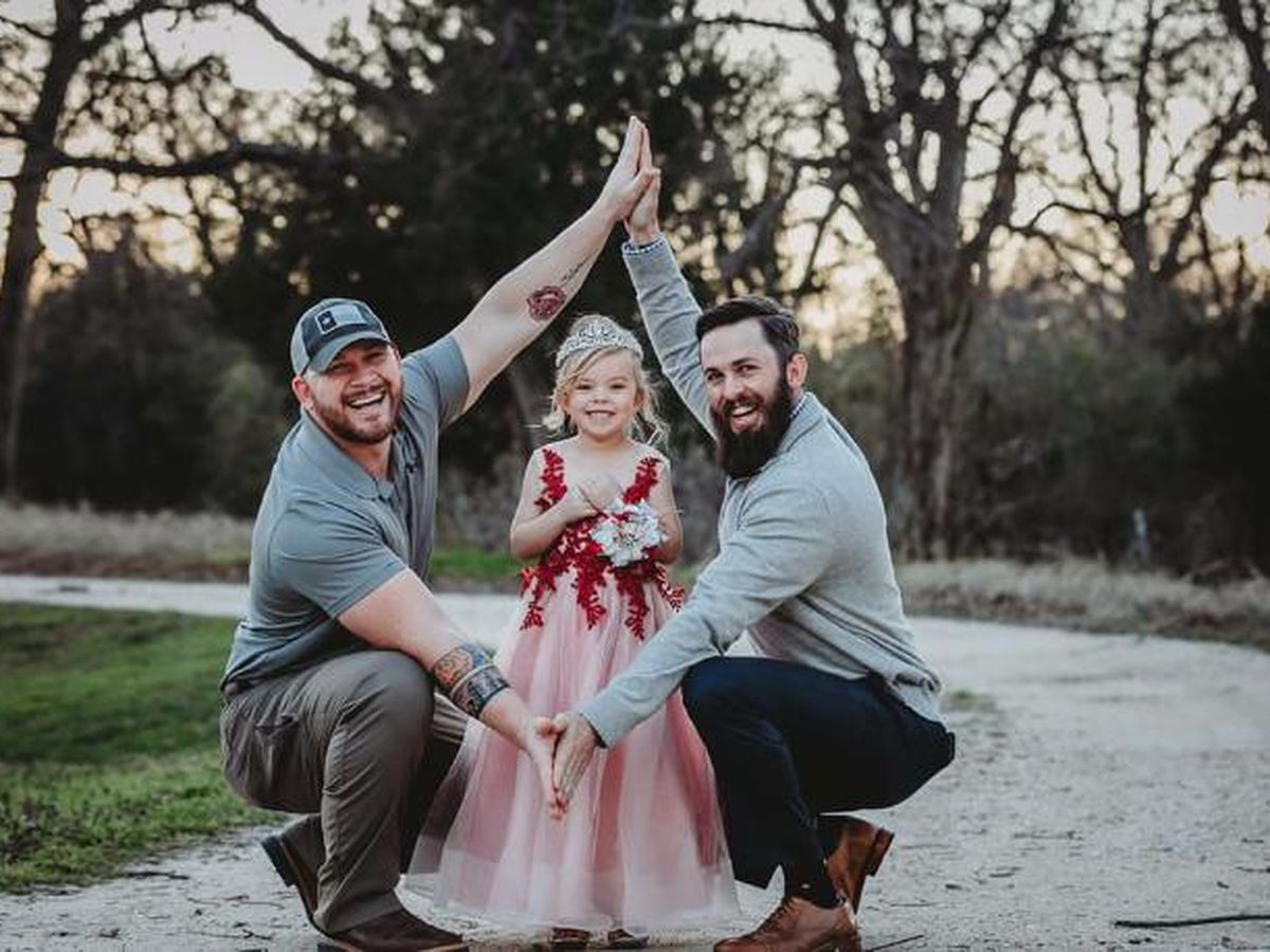 'One unique family': Dad and stepdad-to-be inspire with harmonious co-parenting of little girl