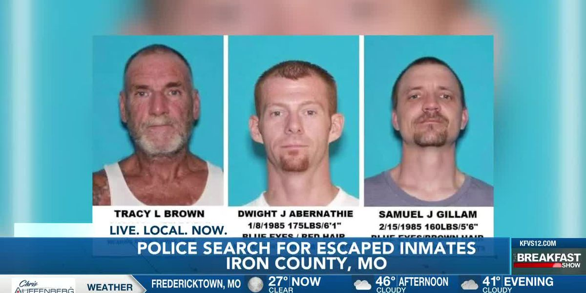 Reward offered for info. on escaped Ironton, Mo. inmates