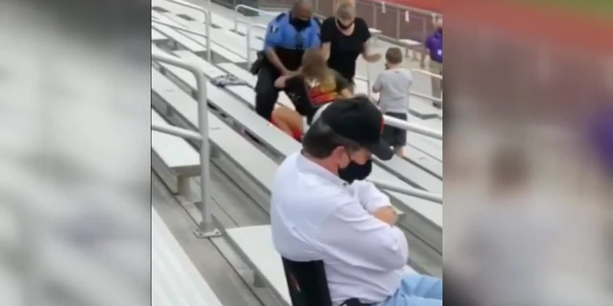 Police tase woman at middle-school football game in Ohio