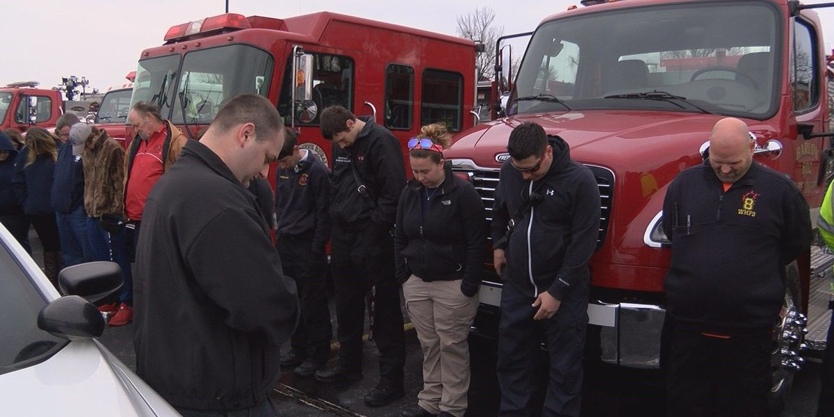 Ballard County first responders pray for Marshall County