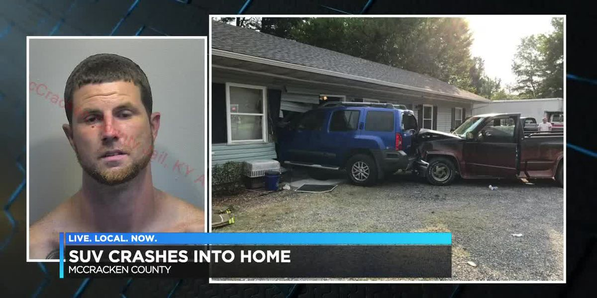 SUV crashed into home