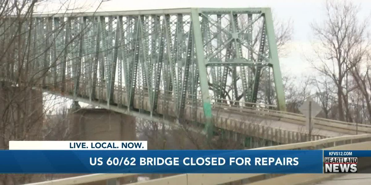 U.S. 60/62 Bridge closed for repairs