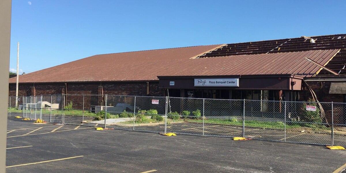 Demolition underway at Ray's Plaza Banquet Center